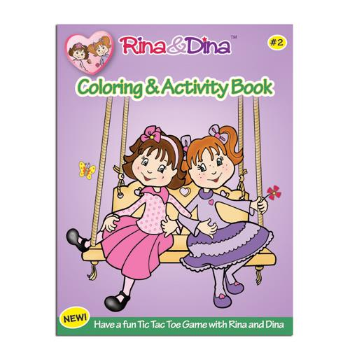 Rina &  Dina COLORING & ACTIVITY BOOK #2 (52 pages)