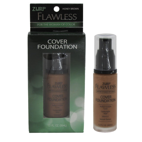 Zuri Flawless Cover Foundation Honey Brown 1.0 oz