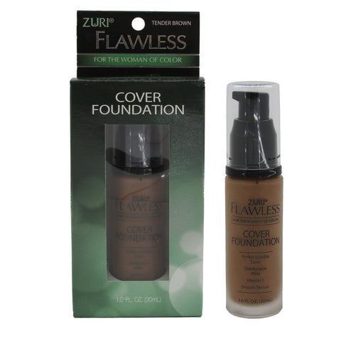 Zuri Flawless Cover Foundation Tender Brown 1.0 oz