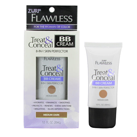 Zuri Flawless Treat & Conceal BB Cream Medium Dark 1.0 oz