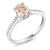 10K White Gold Diamond Accent Engagement Ring Oval Peach Morganite 1.10 ct