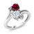 10K White Gold Ring Forever Brilliant GHI Created Moissanite 0.80ct DEW