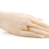 1.80 Ct Oval Whiskey Quartz Yellow Citrine 925 Sterling Silver Ring