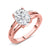 18K Rose Gold Plated Silver Solitaire Ring Forever Classic Oval 2.10ct (DEW) Created Moissanite by Charles & Colvard