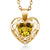 0.71 Ct Citrine White Created Sapphire 18K Yellow Gold Plated Silver Pendant