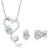 1.95 Ct White 925 Silver Pendant Earrings Set Made With Swarovski Zirconia