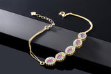 5.79 Ct Mercury Mist Mystic Topaz 18K Yellow Gold Plated Silver Bracelet