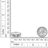 1.07 Ct Oval White Topaz Mercury Mist Mystic Topaz 925 Sterling Silver Ring