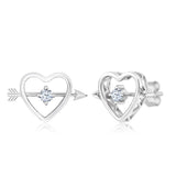 Gem Stone King 0.26 Ct 3mm White Created Sapphire 925 Sterling Silver Stud Earrings
