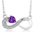 0.34 Ct Heart Shape Purple Amethyst 925 Sterling Silver Infinity Necklace