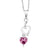 0.44 Ct Pink Tourmaline 925 Sterling Silver Heart Pendant With Chain