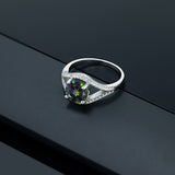 2.50 Ct Round Green Mystic Topaz 925 Sterling Silver Ring