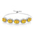 8.55 Ct Oval Yellow Citrine 925 Silver Adjustable Bracelet