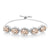 9.05 Ct Oval Peach Morganite 925 Silver Adjustable Bracelet