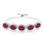 10.05 Ct Oval Red Mystic Quartz 925 Silver Adjustable Bracelet