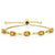 3.00 Ct Oval Yellow Citrine 18K Yellow Gold Plated Silver Diamond Bracelet