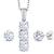 925 Silver Pendant Earrings Set Forever Brilliant Created Moissanite & Diamond