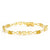 1.60 Ct Oval Yellow Citrine 18K Yellow Gold Plated Silver Mom Bracelet