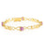 18K Yellow Gold Plated Silver Bracelet Pink Created Moissanite 3.20ct DEW