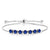 2.45 Ct Round Blue Simulated Sapphire 925 Sterling Silver Bracelet