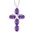 2.25 Ct Oval Purple Amethyst 925 Sterling Silver Cross Pendant With Chain