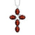 2.75 Ct Oval Red Garnet 925 Sterling Silver Cross Pendant With Chain