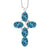 2.75 Ct Oval London Blue Topaz 925 Sterling Silver Cross Pendant With Chain