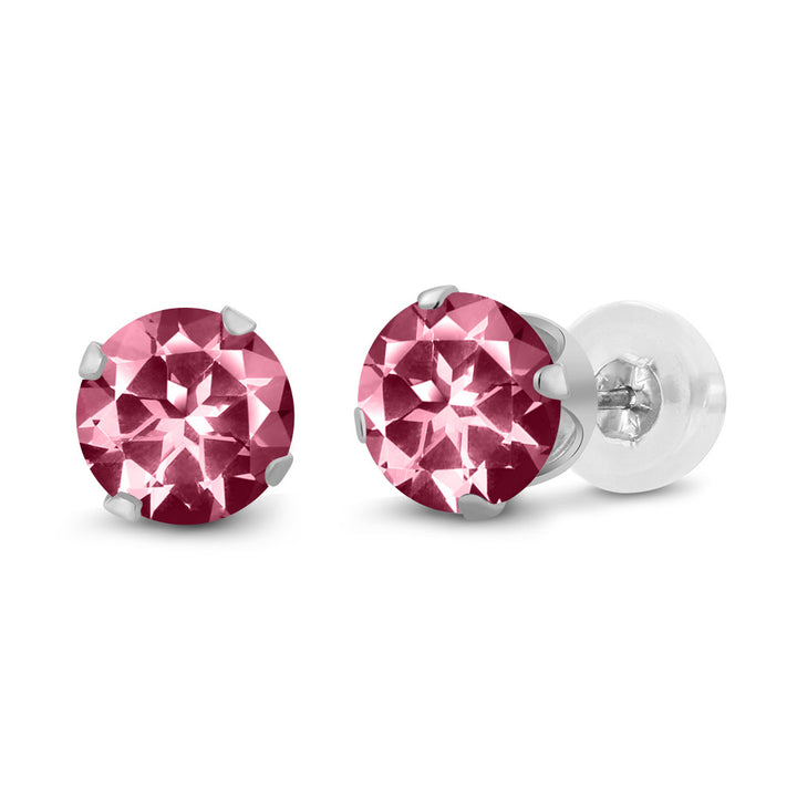 Carlo Bianca 14K White Gold Earrings Set with Pink Topaz from Swarovski