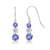 1.82 Ct Round Blue Tanzanite White Topaz 925 Sterling Silver Earrings