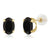 2.50 Ct Oval 8x6mm Black Onyx 14K Yellow Gold Stud Earrings