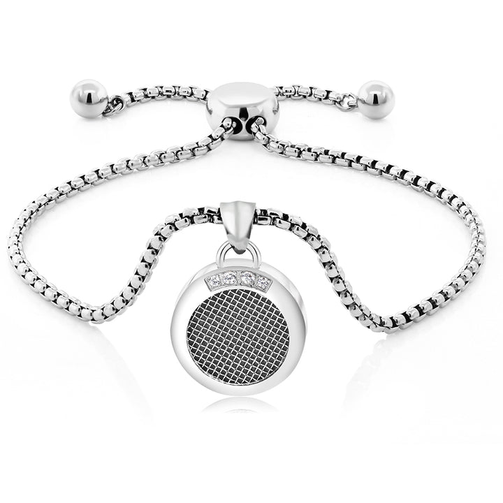 Gem Stone King Stainless Steel Scented Reminiscent Fully Adjustable Round Charm Bracelet