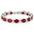 40.00 Ct Oval & Round Red Color Cubic Zirconias CZ Tennis Bracelet 7 Inch