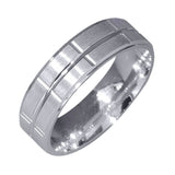 925 Sterling Silver Band 6.00mm Ring