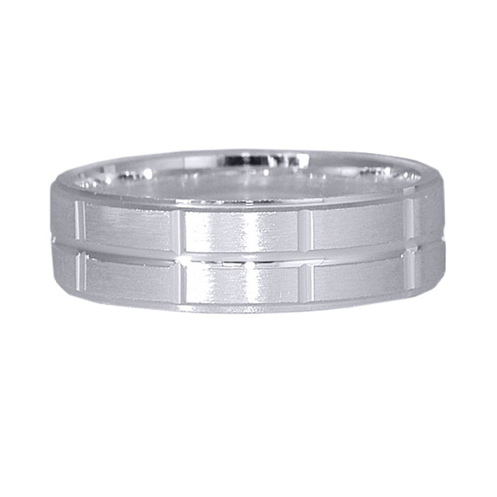 Gem Stone King 925 Sterling Silver Band 6.00mm Ring