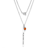 "Gem Stone King Beautiful ""all you need is love"" 18"" Necklace With November Birthstone"