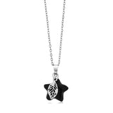 Beautiful Star Shape Onyx Pendant With Leaf Charm With Complimentary Chain