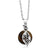"Beautiful Round Tigers Eye Pendant With Leaf Charm On 18"" Chain"