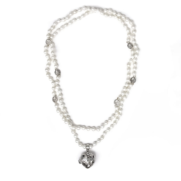 Gem Stone King Beautiful 44inches Amazing Fashion Pearl Beads Necklace With Fashion Pearl Cage