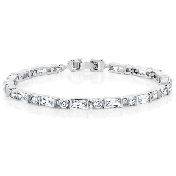 "Sophisticated 8"" Tennis Bracelet With Stunning CZ"