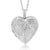 "Locket Pendant Necklace Charm 1.5"" Engraved Flowers Heart Shape + 28 Inch Chain"