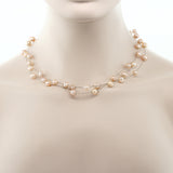 3-Row 7-8mm Pink Cultured Freshwater Pearl Necklace Earrings Set 18""