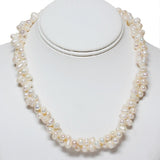"Amazing White Double Twist Cultured Freshwater Pearl Necklace 18"" Pearls:6-7MM"