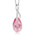 "Beautiful Tear Drop Ribbon Pendant on 18"" Chain Made with Swarovski® Crystals"