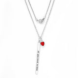 "Gem Stone King Beautiful ""all you need is love"" 18"" Necklace With July Birthstone"