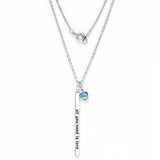 "Gem Stone King Beautiful ""all you need is love"" 18"" Necklace With March Birthstone"