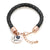 Nirano Collection 'I Love You' Leather Bracelet Made with Swarovski® Crystals