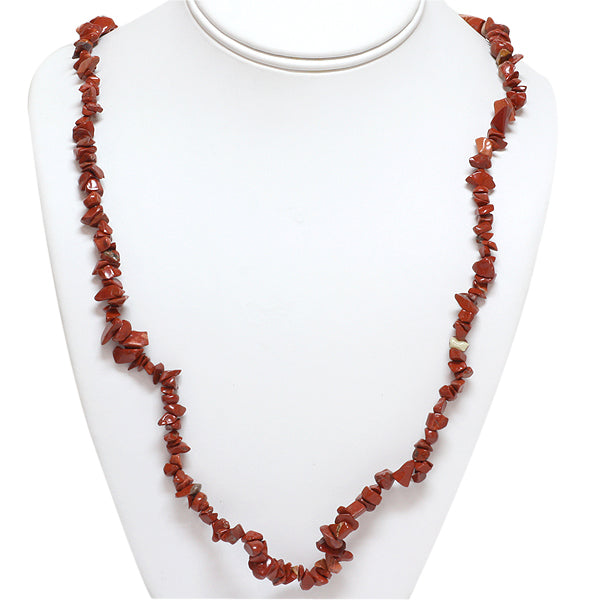 "Set of 3 Simulated Red Jasper 34"" Unakite & Simulated Turquoise Chip Necklace"