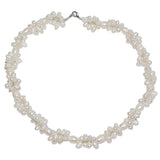 Gem Stone King White Twist Rice Shape Cultured Freshwater Pearl 18 Inch Necklace