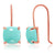 925 Silver Rose Gold Plated Sleeping Beauty Turquoise Dangle Earrings