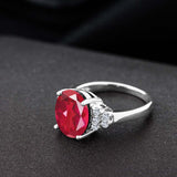 5.10 Ct Oval Last Dance Pink Mystic Quartz White Topaz 925 Sterling Silver Ring